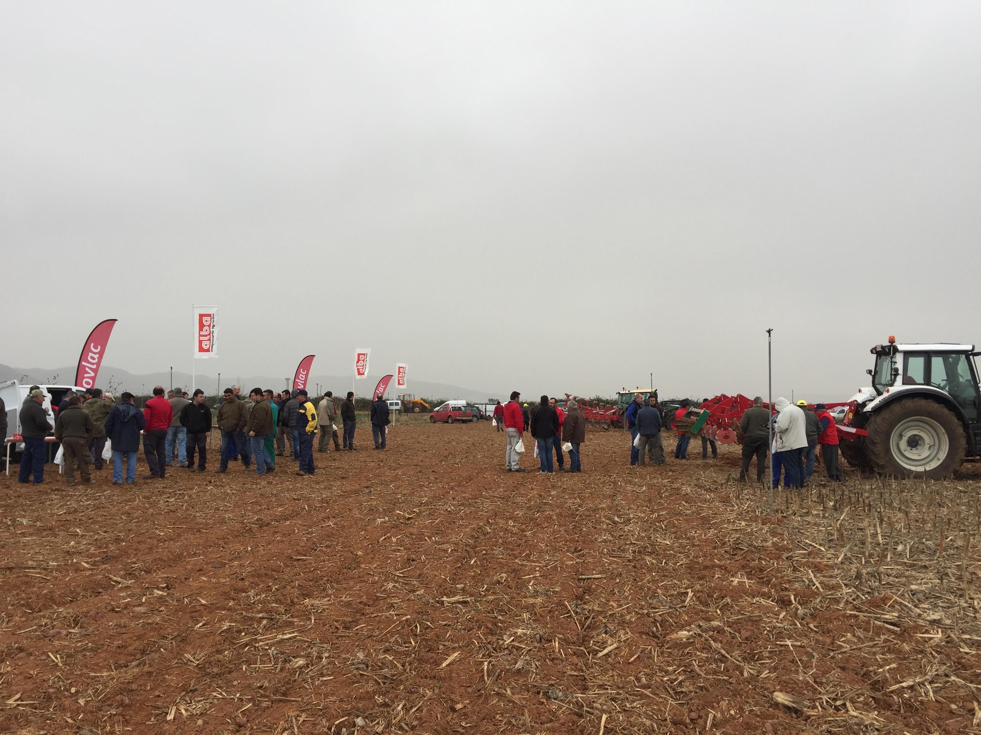 Demostración de Ovlac en Alba Maquinaria Agrícola (Ciudad Real)